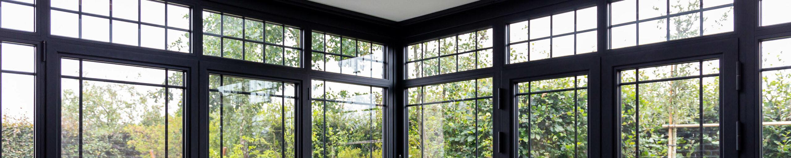 Steellook veranda met terras